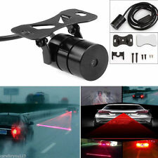 Universal Red Car Laser LED Fog Light Rear Anti Collision Signal Warning Lamp