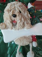 Old English Sheep Dog ~ Dangling Dog Ornament #77