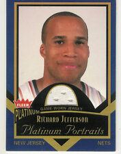2002-03 FLEER PLATINUM PORTRAITS RICHARD JEFFERSON JERSEY NEW JERSEY NETS