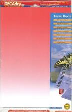 Decadry SPJ-2033 Superbe Rouge sur le Thème De Art A4 Papier, Certificat Papier