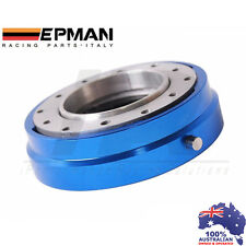 *BLUE* EPMAN RACING THIN QUICK RELEASE SNAP OFF STEERING WHEEL HUB ADAPTER
