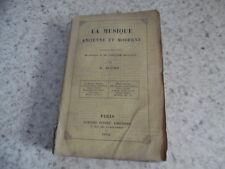 1854.La musique ancienne et moderne.Scudo