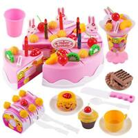 1Set*Cake DIY Model Kitchen Educational Tools Toy Children Play Food ABS Plastic