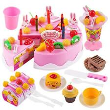 Birthday Food ABS Plastic Cake Children Play Toy Kitchen Educational Toy YS7