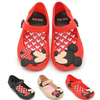 New Summer Cartoon Cute Mickey Minnie Sandals Jelly Shoes Kids Girl Gift Toddler