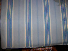 SAMPLE 29x10 Cotton Stripe Curtain Upholstery Fabric Blue White CROWSON Sandford