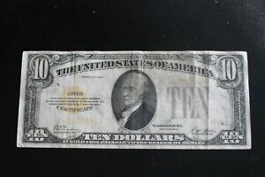 1928 10.00 Ten Dollar Gold Certificate
