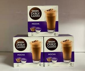 NESCAFÉ DOLCE GUSTO Mocha Coffee Pods, 16 Capsules (Pack of 3 - Total 48 Capsule