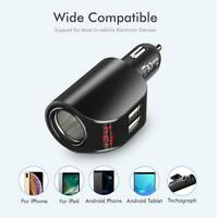 FLOVEME Dual USB Car Charger Digital Display 5V 3.1A Fast Charging Adapter #w