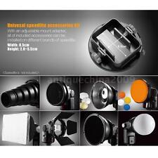 9in1 StudioFlash Speedlite Kit Reflector Softbox Grip Snoot Diffuser Filter Z5C1