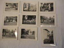 Lot of (9) Vintage 1930's Black & White Snapshot Photographs of House & Gardens