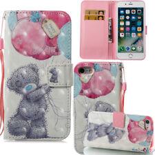 Patrón Lindo oso caso para iPhone 7 7 Plus 8 8 Plus X & Samsung Galaxy Note 8