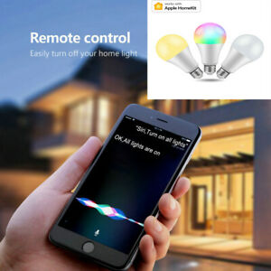 E27 LED Wifi Smart RGB Light Bulbs Siri Voice Control Apple Homekit APP Control