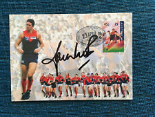 Cricketer Shane Warne Signed Postcard - Aussie Rules Football