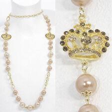 Modeschmuck-Halsketten & -Anhänger aus Perlen und Legierung mit Strass