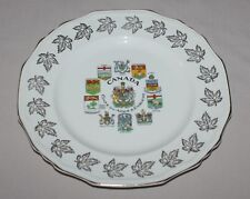 "10"" Canada Coats of Arms & Emblems Collectors Plate Alfred Meakin England"