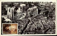 Cambridge England Great Britain Postcard & Stamp Briefmarke frankiert~1970