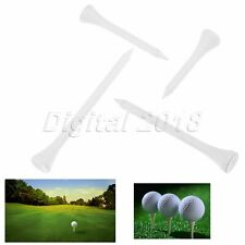 100Pcs White Maple Wood Golf Tee System Professional Training Golf Tees 4 Sizes