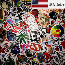 50 Random Skateboard Stickers Vinyl Laptop Luggage Decals Dope Sticker Lot