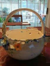 "Franz porcelain ""In Full Bloom""  large basket. Ltd ed 42 of 2000 MIB COA FZ01097"