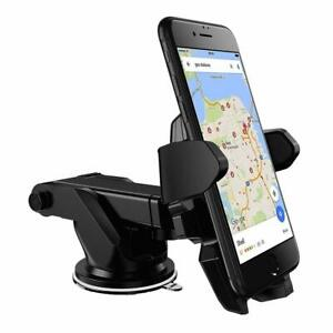 One Touch Release Car Phone Holder Dashboard Windshield Mobile Mount