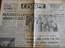 JOURNAL L'EQUIPE FOOTBALL MARSEILLE / LILLE  1949 (B)