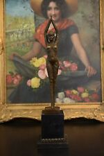 Signed:D. H. Chiparus bronze art deco girl statue star fish Entertainer dancer
