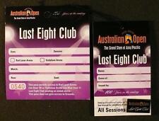 SCARCE 1905-2005 AUSTRALIAN OPEN LAST EIGHT CLUB PIN & PASSES