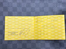 Breitling Chronomat A13050.1 Warranty Booklet 23/10/1998 UK WatchesOfSwitzerland