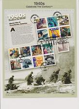 US FDC 1999 4 Souvenir Pages Celebrate Century 1940s 1950s 1960s 1970s |