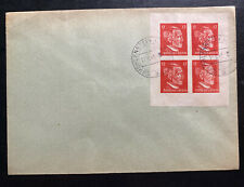 1945 Hohllenstein Germany Postwar OSS Forgery Cover Stamp Block !
