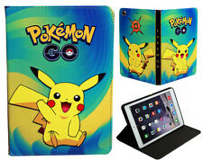 For Apple iPad 2 3 4 Happy Pokemon Pikachu Anime Pokeball New Smart Case Cover