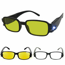 Unisex Magnetic Therapy LED Reading Glasses Spectacles Night Vision Eyeglass