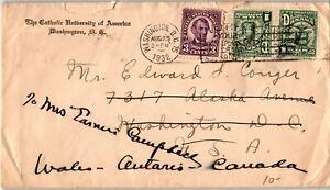 Panama Postal History: LOT #3 1932 Mixed Franking US WASHINGTON DC ONTARIO $$$