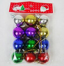 12PCS Christmas Tree Baubles Hanging Decoration Xmas Ornament Shiny Balls