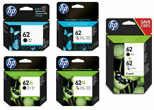 Original HP 62+62XL Black & Colour Ink Cartridges For OfficeJet 5740 Printer Lot