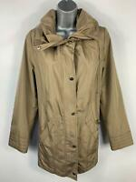 WOMENS CENTIGRADE BROWN CAUSAL ULTRA LIGHT WEIGHT RAIN COAT JACKET SIZE M MEDIUM
