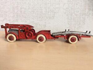 "1930 Hubley toy Cast iron Nucar Transport Car carrier Auto transporter 16"""