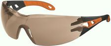 2x UVEX Pheos Safety Glasses Medium Impact Protection Black/Orange Germany