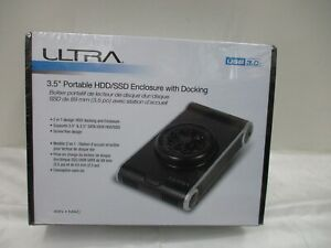 """NOS ULTRA 3.5"""" Portable HDD/SSD Enclosure with Docking New in Sealed Box"""