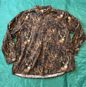 Deer Button Up Shirt Size 2XL Legacy Falls All Over Print