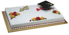 Grad Hat Graduation Diploma cake decoration Decoset cake topper set