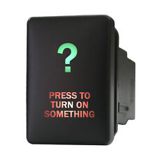 Push switch 9B93GR 12V Toyota PRESS TO TURN ON SOMETHING LED green red on-off