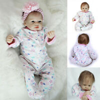 "22"" Reborn Baby Doll Full Body Silicone Vinyl Realistic Sleeping Girl Doll Gifts"