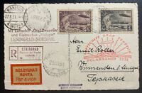 1931 RUSSIA USSR Graf Zeppelin Malyguin PC Cover Polar Flight  #C26 C28
