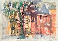 ORIGINAL pastels painting artwork signed contemporary art architecture