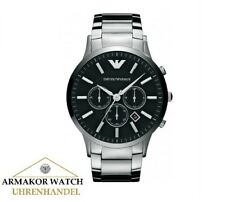 Original EMPORIO ARMANI AR2460 Klassik Herren Uhr Chronograph Edelstahl NEU&OVP