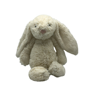 Jellycat London Kids Toy Plush Rabbit White Medium Stuffed Animal Bunny