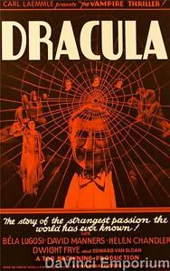 Dracula Vintage Movie Poster Lithograph Bela Lugosi Hand Pulled S2 Art