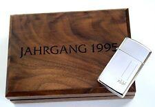 Original Zippo Jahrgangsmodell 1995 Slim Ltd.Edition xxx / 500  Silver Plate Neu